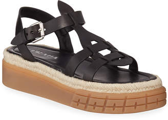 Prada Low Gladiator Chunky Sandals