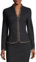 St. John Beaded Shimmer Boucle Knit Jacket