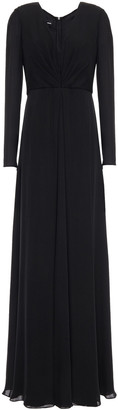 Giorgio Armani Pleated Mulberry Silk Crepe De Chine Gown