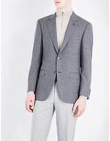 Canali Puppytooth-patterned Wool Jacket