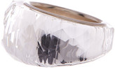 Swarovski Sterling Silver Nirvana Crystal Ring - Size 6