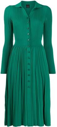 Pinko Pleated Knit Midi Dress