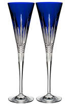 Waterford Crystal Set of 2 Lismore Diamond Toasting Flutes