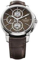 Maurice Lacroix Men's PT6188-SS001730 Pontos Pontos Chronograph Brown Strap Watch