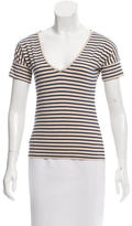 Cacharel Striped V-Neck Top