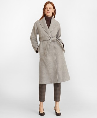 Brooks Brothers Wool Wrap Coat