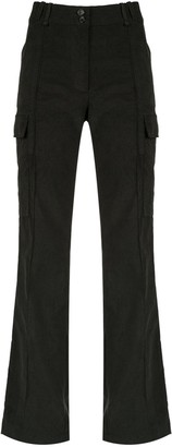 Gloria Coelho Flared Cargo Trousers
