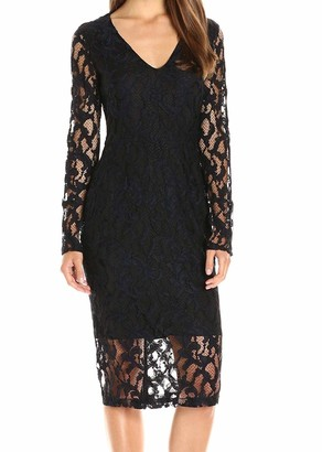 Rachel Roy Women's Lace Midi Dress with Back Cut Out