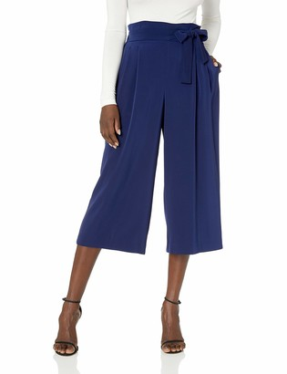 Anne Klein Women's Belted Cropped Trouser