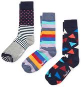 Happy Socks Triangle, Dots and Stripes Socks (3 PK)