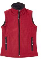 Roper Raspberry Textured Vest - Girls