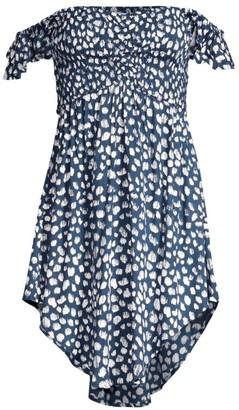 Tiare Hawaii Hollie Off-The-Shoulder Printed Dress