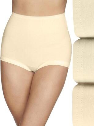 Vanity Fair Women's Lollipop Plus Size Cuff Leg Brief Panties 3 Pack 15867