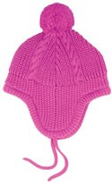 Jo-Jo JoJo Maman Bebe Cable Knitted Hat (Baby) - Fuchsia-0-6 Months