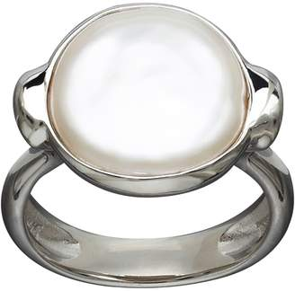 Honora Style Sterling Silver and Freshwater Coin Pearl Ring