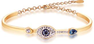 Swarovski Barzel Women's Bracelets Gold - 18K Gold-Plated Evil Eye Bracelet With Crystals