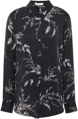 Equipment Essential Floral-print Washed Silk-blend Shirt