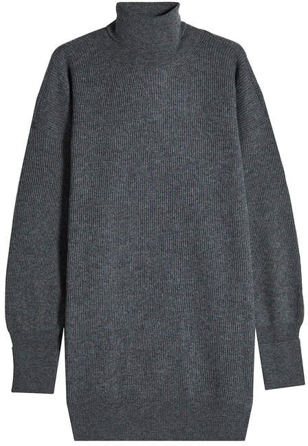 Maison Margiela Wool Sweater Dress with Suede