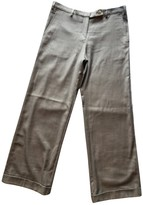 Malo Grey Wool Trousers for Women