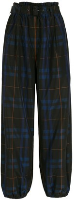 Nk Belted Check Trousers