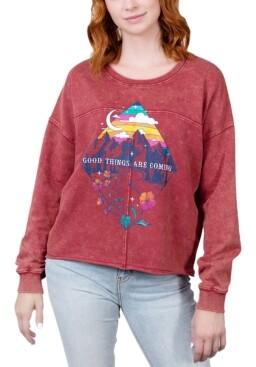 Rebellious One Juniors' Good Things Are Coming Graphic Sweatshirt