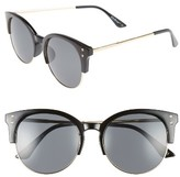 A. J. Morgan Women's A.j. Morgan Newport 55Mm Retro Sunglasses - Black