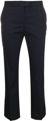 Paul Smith Grid-Print Cropped Trousers