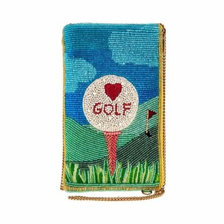 Mary Frances Golf Lover Beaded Crossbody Phone Bag