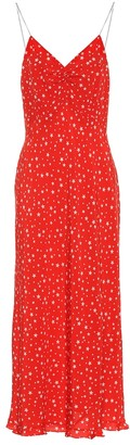 Miu Miu Star-printed silk crepe dress