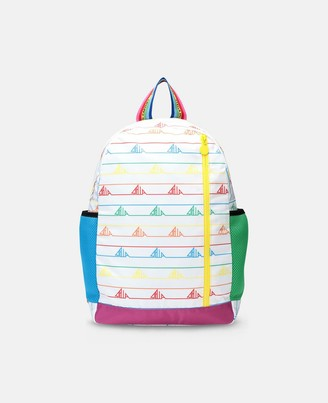 Stella McCartney sport backpack with rainbow logo tape