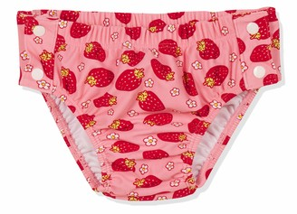 Playshoes Baby Girls' Uv-Protection Diaper Pants Strawberries To Button Swim Nappie