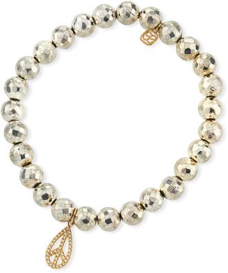 Sydney Evan Diamond Peace Teardrop Bracelet