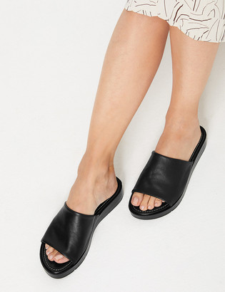 Marks and Spencer Leather Open Toe Sliders