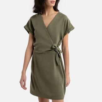 Vero Moda Wrapover Mini Dress with Short Sleeves
