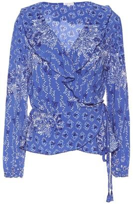 Poupette St Barth Elise printed wrap blouse