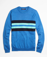 Brooks Brothers Supima® Cotton Chest Stripe Sweater