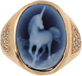 Jacquie Aiche Diamond, agate & yellow-gold ring