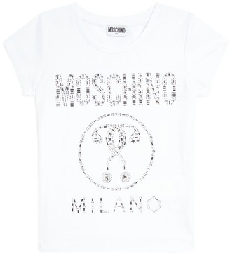 Moschino Kids Double Question Mark Embellished T-Shirt