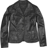Forzieri Black Genuine Italian Leather Jacket
