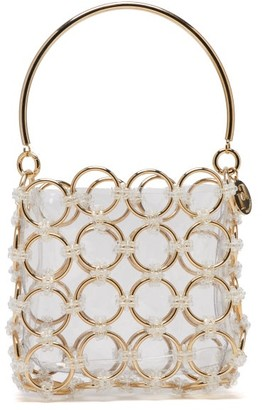Rosantica Joplin Beaded Metal-ring Clutch Bag - Womens - Gold Multi