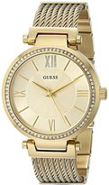 GUESS Women's U0638L2 Sophisticated Gold-Tone Watch with Self-Adjustable Bracelet