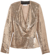 IRO Chilli Sequined Twill Jacket - Gold