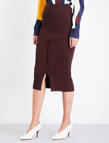 Victoria Beckham Fitted ribbed-knit pencil skirt