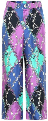 Gucci Printed silk pants
