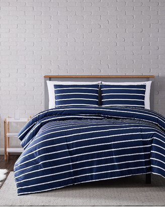 Truly Soft Maddow Stripe Navy Comforter Set