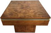 One Kings Lane Vintage Mid-Century Modern Burlwood Accent Table - Tobe Reed - brown/gold