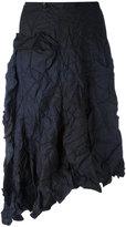 Yohji Yamamoto asymmetric midi skirt - women - Polyester - 1