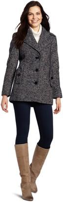 Calvin Klein Women's Single Breasted Wool Coat