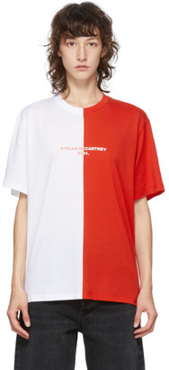 Stella McCartney Red and White Panelled 2001 T-Shirt