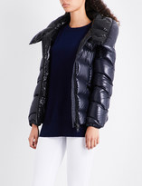 Moncler Akebia shiny quilted-shell jacket